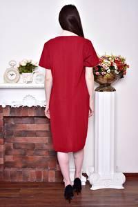 Платье длинное красное зимнее Р8743