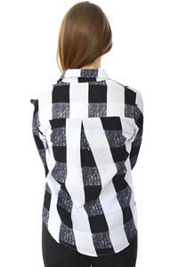 Рубашка в клетку с длинным рукавом Н6001