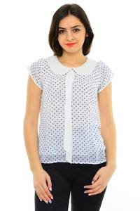 Блуза белая вечерняя М8259
