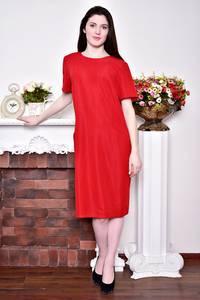 Платье длинное вечернее красное Р8745