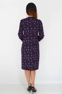 Платье длинное зимнее трикотажное М1481