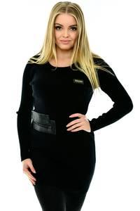 Туника с длинным рукавом черная П2785