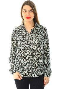 Рубашка с принтом с длинным рукавом Н6004