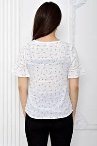 Блуза белая с коротким рукавом Т0610