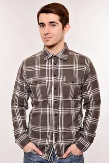 Рубашка N-13029(темн. серая)