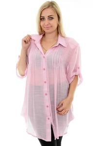 Рубашка удлиненная однотонная П0043