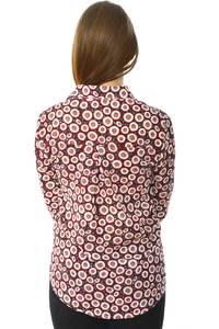 Рубашка с принтом с длинным рукавом Н6005