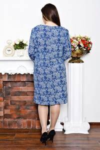 Платье длинное с принтом зимнее Р6837