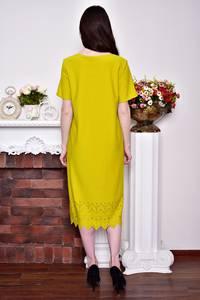 Платье длинное вечернее желтое Р8748