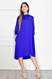 Платье короткое нарядное синее Т6577