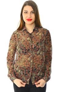Рубашка с принтом прозрачная с длинным рукавом Н6006