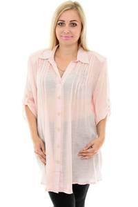 Рубашка однотонная с коротким рукавом П0044