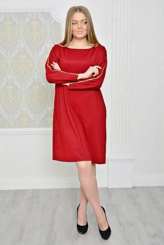 Платье короткое красное деловое Р2072