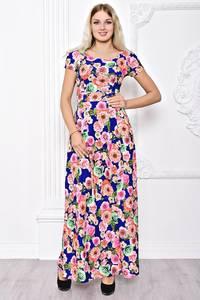 Платье длинное летнее с принтом С8386