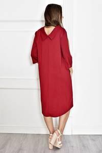 Платье короткое нарядное красное Т6578