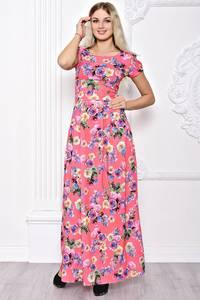 Платье длинное летнее с принтом С8388