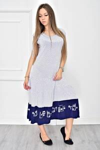 Платье длинное белое нарядное Т8943