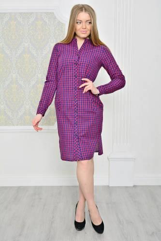 Платье короткое повседневное с длинным рукавом Р2074