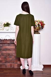 Платье длинное летнее зеленое Р8752