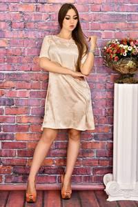 Платье короткое с принтом современное Т4088