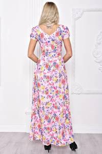 Платье длинное летнее с принтом С8389