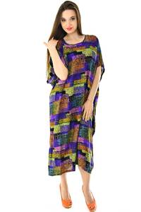 Платье длинное с коротким рукавом летнее Н7309