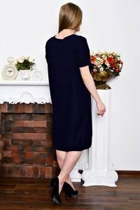 Платье короткое деловое черное Р7261