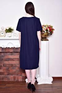 Платье длинное летнее синее Р8753