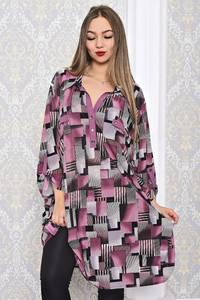Туника туники-рубашки удлиненная красивая С7621