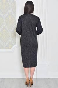 Платье длинное черное вечернее Р0389