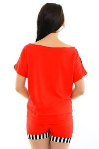 Костюм красный летний нарядный М8437