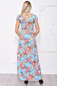 Платье длинное летнее с принтом С8390