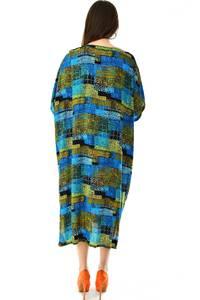 Платье длинное с коротким рукавом летнее Н7310