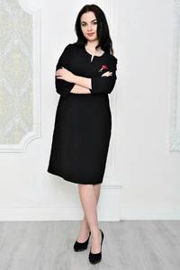 Платье короткое черное деловое Р1795