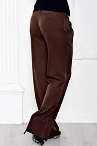 Брюки классические коричневые прямые С7118