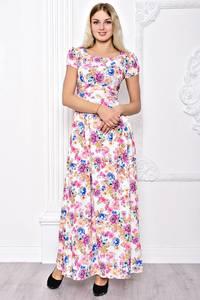 Платье длинное летнее с принтом С8391