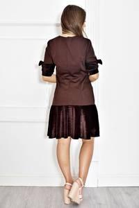 Платье короткое нарядное однотонное Т6583
