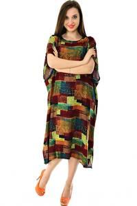 Платье длинное с коротким рукавом летнее Н7311