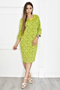 Платье длинное нарядное зеленое Т6584