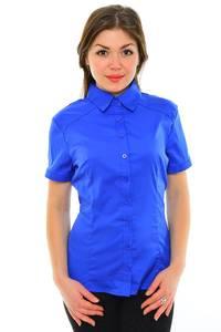 Рубашка однотонная синяя М8877