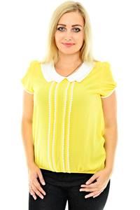 Блуза желтая с коротким рукавом П0429