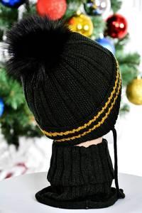 Шапка и шарф П7824