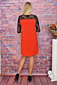 Платье короткое однотонное трикотажное Т5853