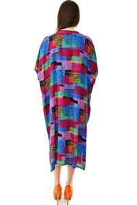 Платье длинное с коротким рукавом летнее Н7312