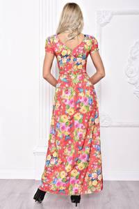 Платье длинное летнее с принтом С8392