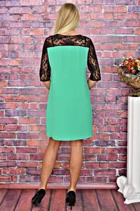 Платье короткое однотонное трикотажное Т5854