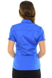 Рубашка однотонная синяя М8878