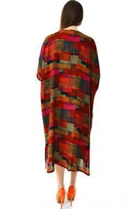 Платье длинное с коротким рукавом летнее Н7313