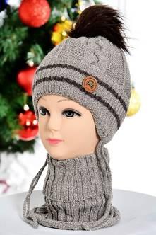 Шапка и шарф П7825