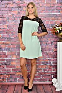 Платье короткое однотонное трикотажное Т5855